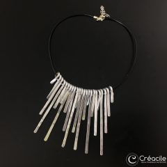 Collier martelé XL carré
