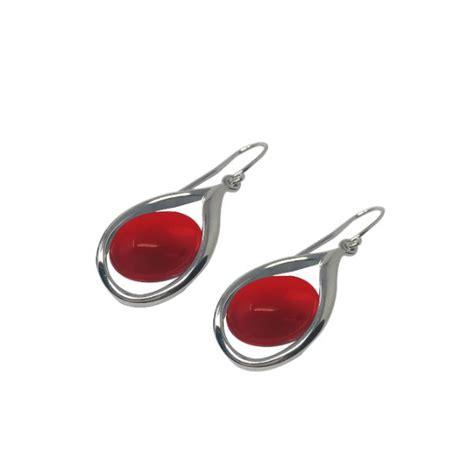 Boucles d'oreilles Cécla – corail