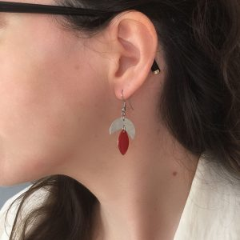 Boucles d'oreilles Cécla – rouge