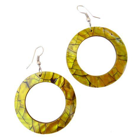 Boucles d'oreilles Cécla – jaune