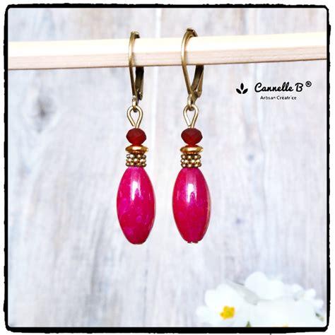 Boucles d'oreilles Cécla – rose pastel