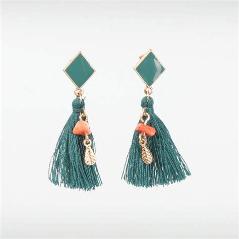 Boucles d'oreilles Cécla – bleu canard