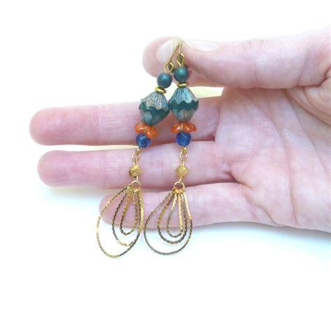 Boucles d'oreilles Cécla – jaune moutarde