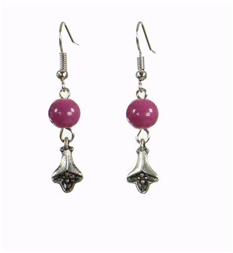 Boucles d'oreilles Cécla – violet parme
