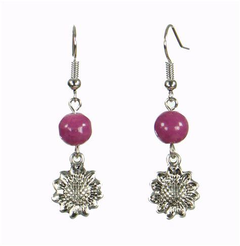 Boucles d'oreilles Cécla – violet lilas