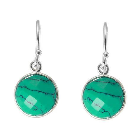 boucles d'oreilles avec sequins bleu lagon