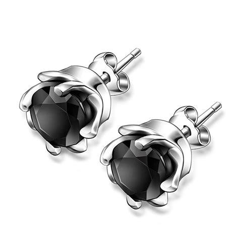boucles-oreilles-clous-noir-metal