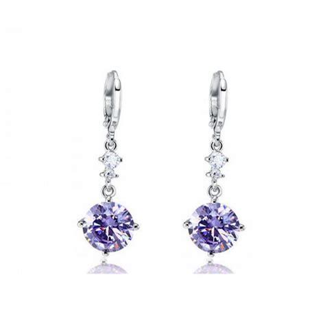 Boucles d'oreilles Céleste – violet prune