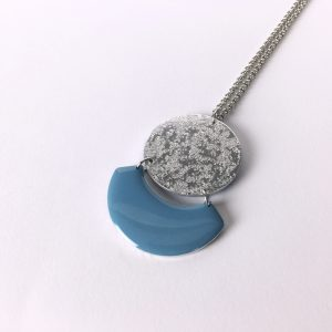 Collier long Céleste – bleu