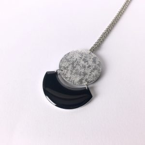 Collier long Céleste – noir